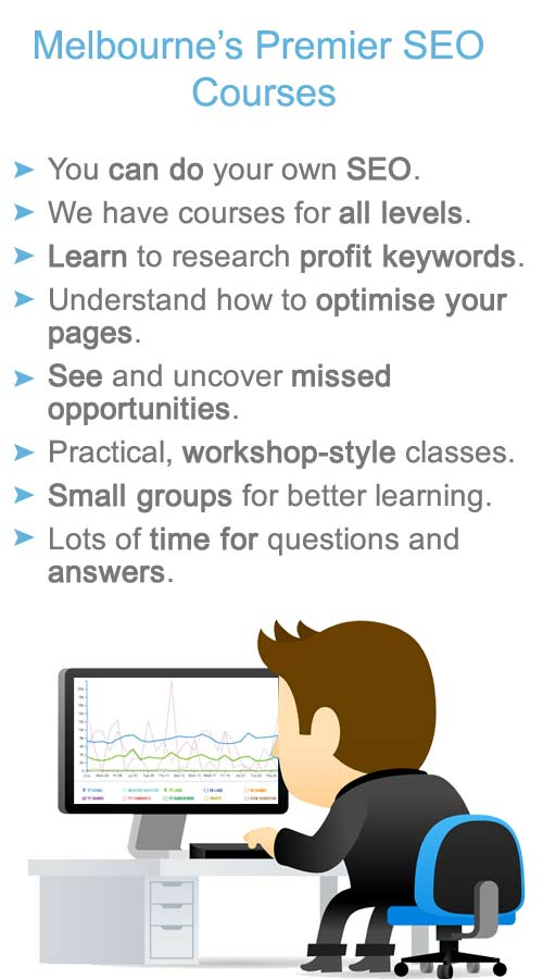 learn search engine optimisation at any of our specialized sessions